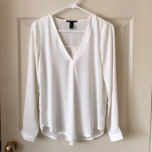 Forever 21 white v-neck blouse